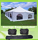 Cheap 40'x20′ PVC Pole Tent – Havey Duty Party Wedding Canopy Shelter – With Storage Bags – By DELTA Canopies