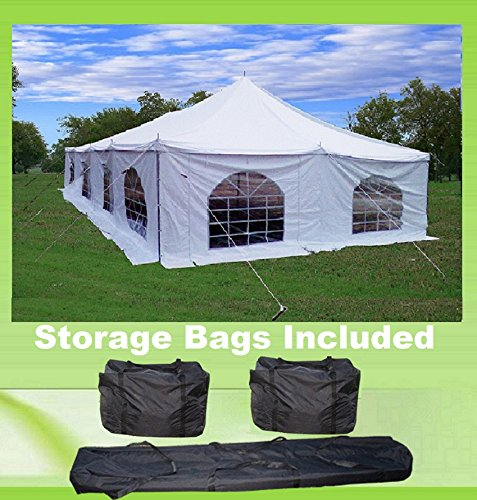 40'x20' PVC Pole Tent - Havey Duty Party Wedding Canopy Shelter - With Storage Bags - By DELTA Canopies