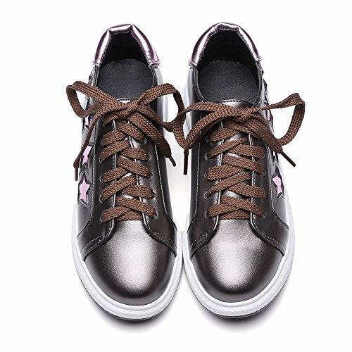 19c13820ebf8 Mee Shoes Damen Flach mit Schnürsenkel Stern Sneaker Taupe ...
