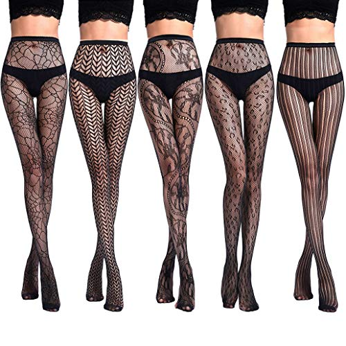 akiido High Waist Tights Fishnet Stockings Thigh High Stockings Pantyhose
