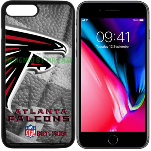- Falcons Atlanta Football New Black Apple iPhone 8 Case by Mr Case