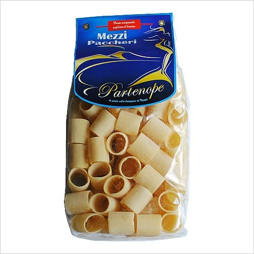 メッツェパッケリ 500g (パルテノペ)【半分にカットされた使いやすい大きさのパッケリです】「パスタの茹で汁を美味しいと思った」小麦香るもちもちパスタ【もちもち感最高です】