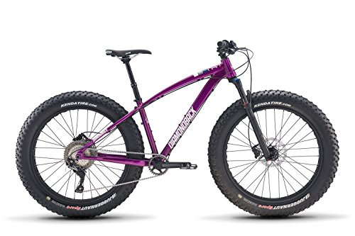 "Diamondback Bicycles El OSO Tres Fatbike Hardtail Mountain Bike, Purple, 18""/Medium"