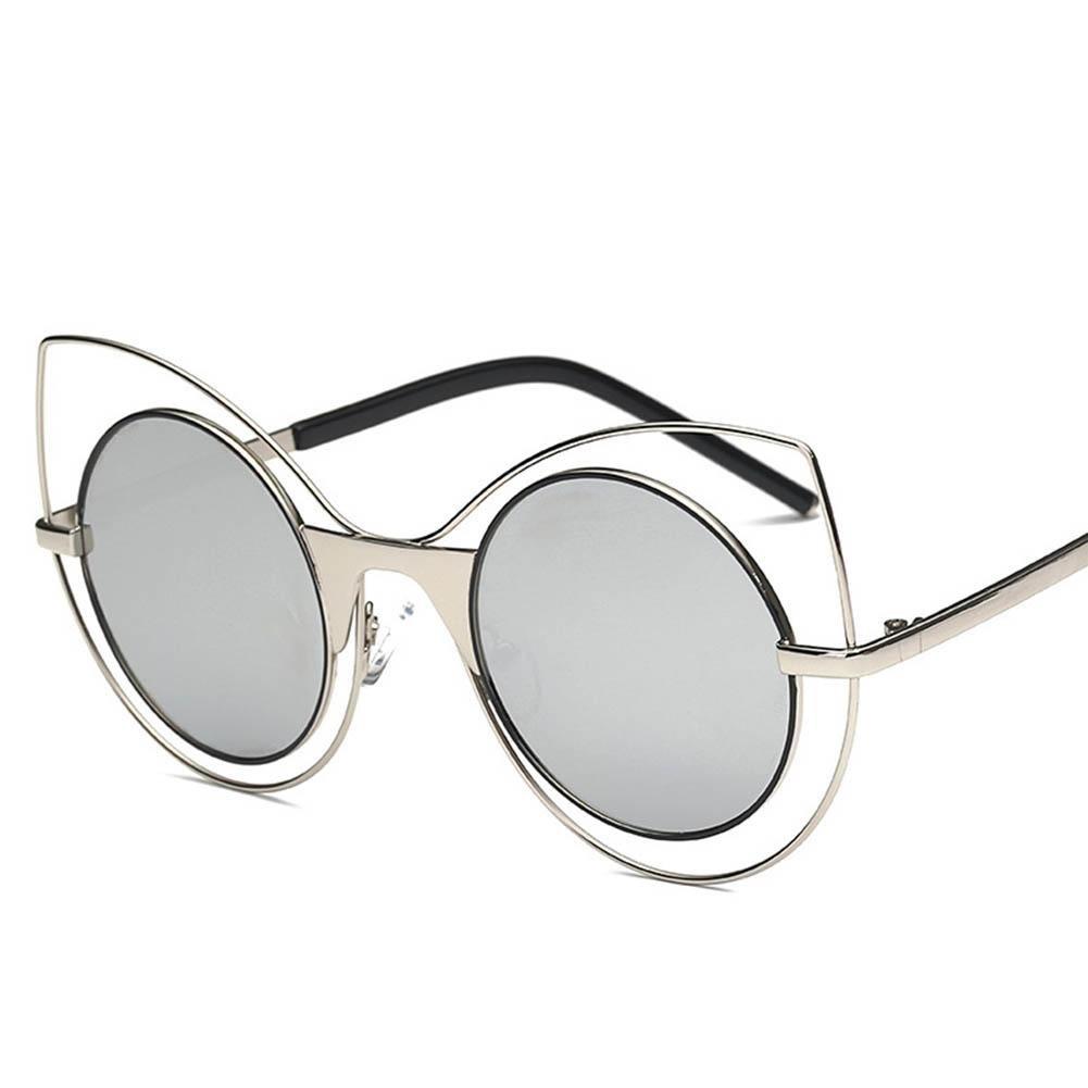 XYLUCKY Gafas de sol de los ojos de gato de las mujeres de la manera Vidrios de sol coloridos de la ...