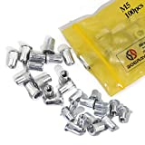 Boeray 100pcs M5 Aluminum Alloy Rivnut,Flat Head Threaded Rivet Insert Nut, Cap Rivet Nut