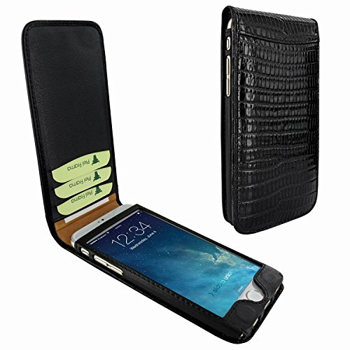 Piel Frama 682 Black Lizard Magnetic Leather Case for Apple iPhone 6 / 6S by Piel Frama