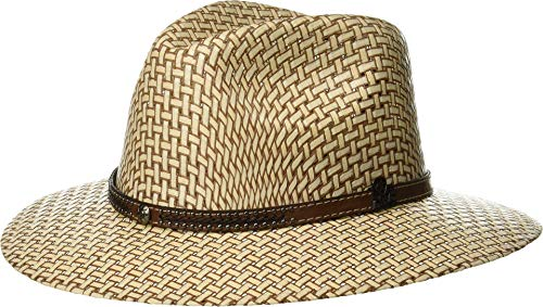506caa5a2bb53 ARIAT Unisex Two-Tone Fedora Ivory Brown 7 1 4