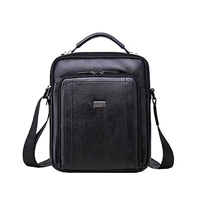 Genda 2Archer Mens Large Briefcase Laptop Bag Messenger Shoulder Leather Bag Handbag