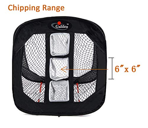 Galileo Golf Chipping Net Practice Driving Training Nets with Target Square Hitting Aid by Galileo Thought (Image #1)