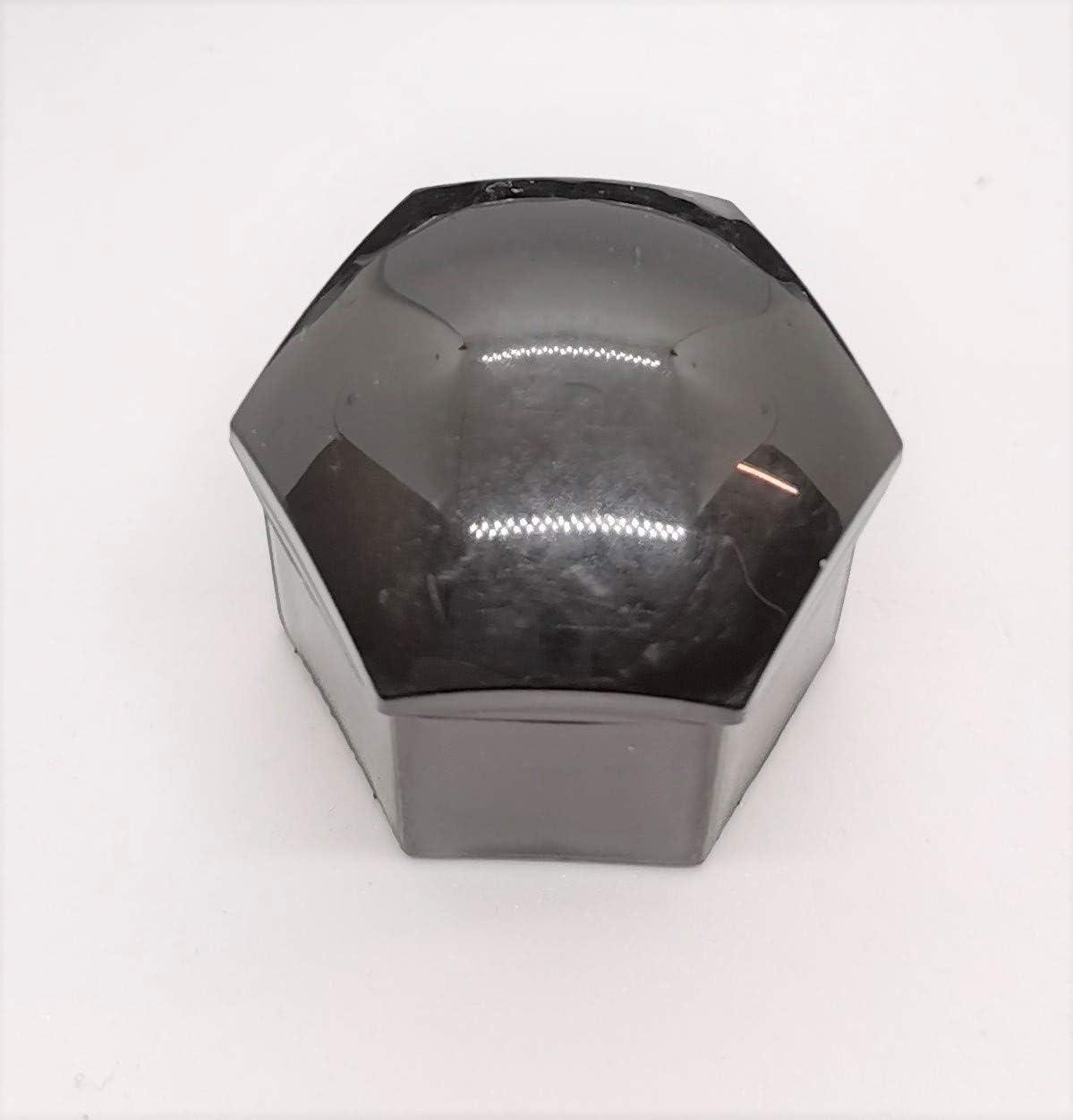 Viktex 20 Radschraubenkappen Abdeckungen Radmuttern Set 21mm Schwarz Glanz Abzieher Auto