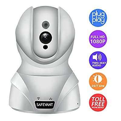 Wireless Security Camera, Safevant HD Wifi IP Camera Surveillance Video Recorder With Two Way Audio Night Vision For Pet Monitor, Nanny Camera, Baby Monitor and Puppy Cam by Safesky