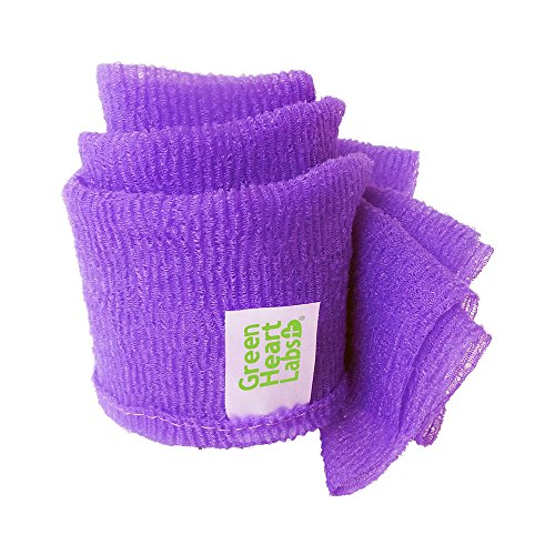ExfoliMATE   Magic Exfoliating Shower Cloth Gently Removes Dead Skin for a Youthful Clear Complexion (PURPLE)