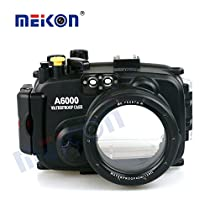 Meikon Underwater Housing Case for Sony A6000 Camera with 16-50mm Lens Diving Up to 40m/130ft