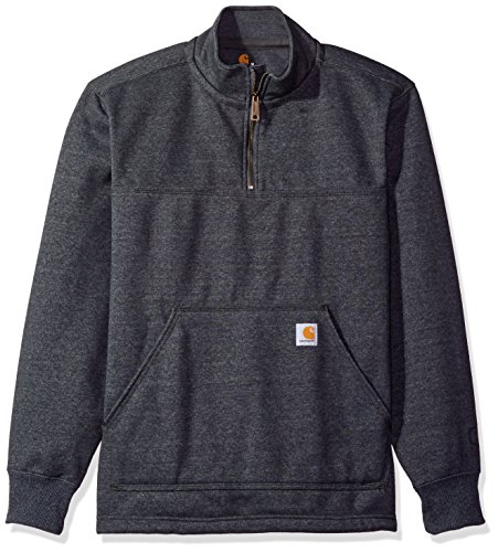 Carhartt Heavyweight Hooded Zip Sweatshirt - Carhartt Men's Rain Defender Paxton Heavyweight Quarter-Zip Sweatshirt, Carbon Heather, 2X-Large