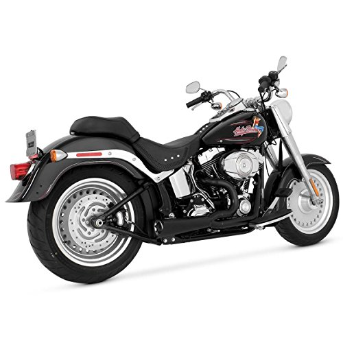 Vance and Hines Competition Series 2-Into-1 Black Full System Exhaust for Harle - One (Competition Full System)