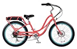 "Pedego Comfort Cruiser 26"" Step Thru Coral with Black Balloon Package 36V 10Ah"