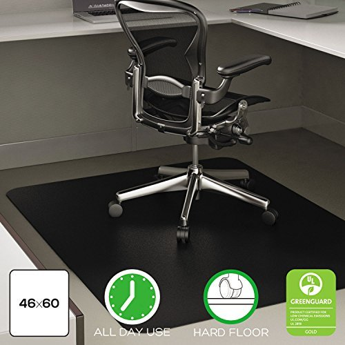 Deflecto CM21242BLK Rectangular Chairmat, Hard Floor, 45-Inch x53-Inch, Black