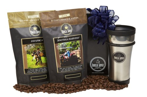 Boca Java Roast to Order Coffee, Direct Trade Coffee Duo Gift Set - with Whole Bean DECAF Coffee