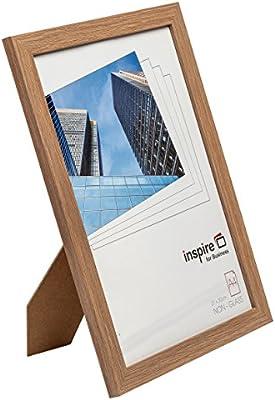 Hampton Frames SORA4NG Sorbonne - Marco de Fotos con Efecto de Madera (tamaño A4, 21 x 30 cm), Color marrón Tablero de Mesa o Colgar en la Pared