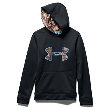 e401ae5a3647 Under Armour Kids Boy s Storm Caliber Hoodie (Big Kids) Black 1 Sweatshirt  XS (