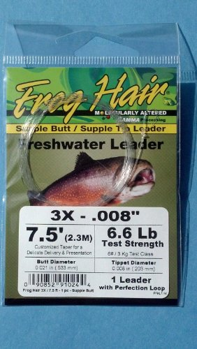 Frog Hair 5x 7.5' Supple Butt / Supple Tip Tapered Leader [Misc.] - Supple Tip