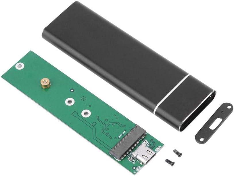 Black M.2 NGFF SSD to USB 3.1 Type-C Converter Adapter Enclosure Case Box