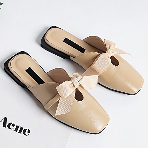 XUE Women's Shoes PU Summer Comfort Sandals/Slippers & Flip-Flops Breathable Walking Shoes Hollow-out Fashion Pointed Shoes Office & Career Dress Party & Evening & Career Dress (Color : A, Size : 35) A