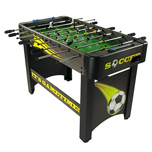 Sunnydaze 48-Inch Indoor Foosball Table - Sports Arcade Table Soccer for Pub, Game Room, Parties, Basement and Table footballn Cave - Indoor Recreational Game Table for Home