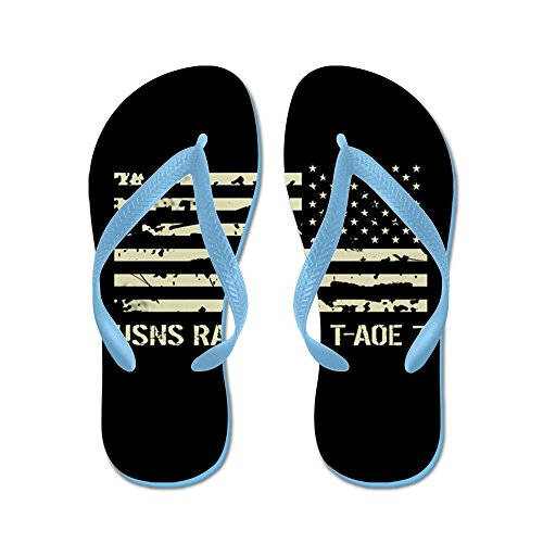 CafePress USNS Rainier - Flip Flops, Funny Thong Sandals, Beach Sandals Caribbean Blue