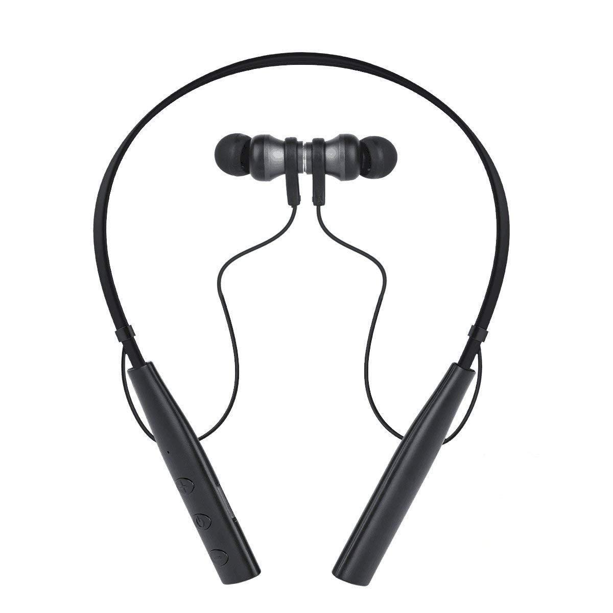 Auriculares Bluetooth TIMMY Cascos inalámbricos Auricular Deportivos Auricolari Estéreo Magnéticos con Micrófono, Cancelación de ruido, soporte ...