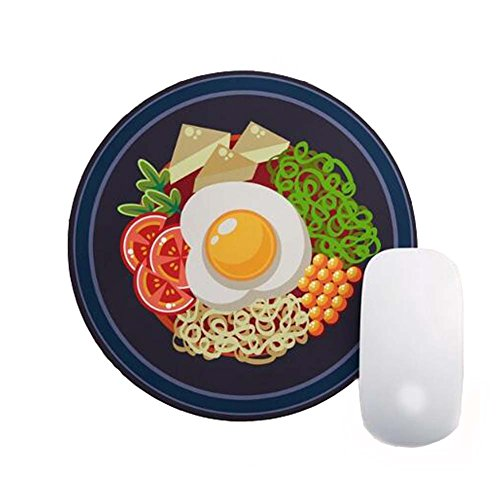 Price comparison product image Interesting Round Ramen Noodles Mouse Pad Mat Cloth Surface Rubber Back