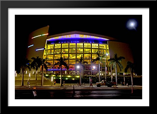 American Airlines Arena 40x28 Large Black Wood Framed Print Art - Home of the Miami - Galleria Miami