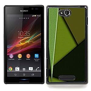 GIFT CHOICE / Teléfono Estuche protector Duro Cáscara Funda Cubierta Caso / Hard Case for Sony Xperia C // Green Pattern //