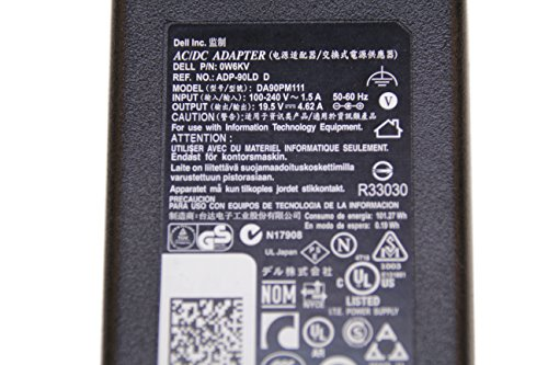 Dell Original 90W AC Adapter Laptop Charger for Dell Inspiron 1545 1555 1564 1570 1520 1521 1525 1526 Laptop Notebook Battery Charger Power Supply Cord Plug 90 Watt