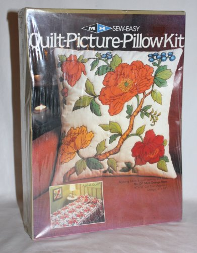 1981 MH Sew Easy Quilt-Picture '' Orange Rose '' Pillow Kit - No. QP 1403 by Unknown