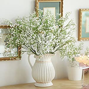 ShineBear 1PC DIY Artificial Baby's Breath Flower Gypsophila Fake Silicone Plant for Wedding Home Hotel Party Decorations 27