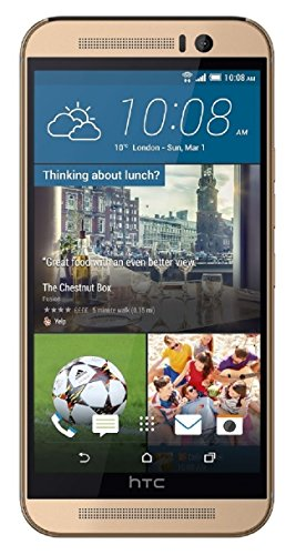 (HTC One M9 32GB Unlocked GSM Android Smartphone w/ 20MP Camera - Amber Gold)