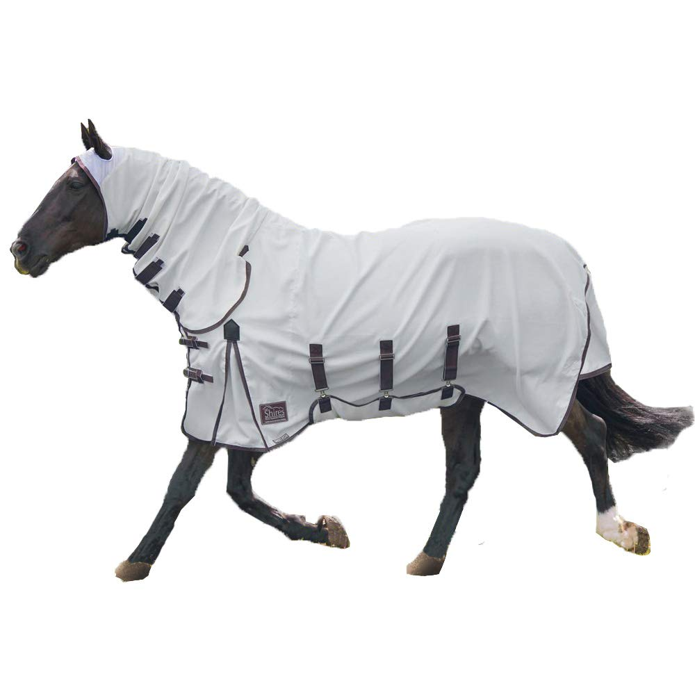 Shires Sweet-Itch Combo Fly Sheet (White, 81) by Shires
