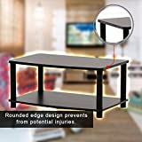 Narrow Entertainment Flat Stand Rack Shelves Storage Open Display Raise TV For Comfort Viewing And Other Audio Video Accessories Suits To Any Room Small Size Furniture Stylish Strong Durable Design