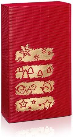 10 x vino cartón, cartón de Navidad, caja de vino, botellas de cartón ({2} botellas) - diseño de invierno: Amazon.es: Hogar