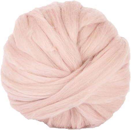 Extremely Chunky Vegan Yarn Wool Giant Knitting Pink
