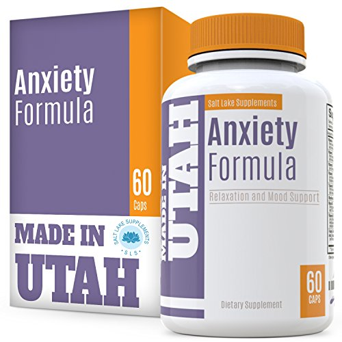 Flash Sale – Natural Anxiety Formula & Stress Support Supplement – with All-Natural Ingredients That Helps Manage Stress and Soothe The Mind, Boosts Serotonin to Keep You Calm and Happy