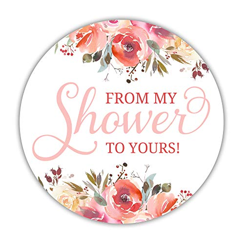 (40 from My Shower to Yours Stickers, 2 inches - Baby Shower soap Labels - Bridal Shower Sugar)