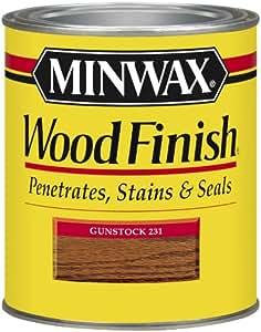 Minwax 22310 1/2 Pint Wood Finish Interior Wood Stain, Gunstock