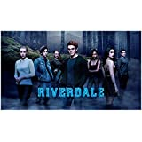 #9: Riverdale (TV Series 2017 - ) 8 inch by 10 inch PHOTOGRAPH K.J. Apa from Knees Up w/Cast in Mist Title Poster kn