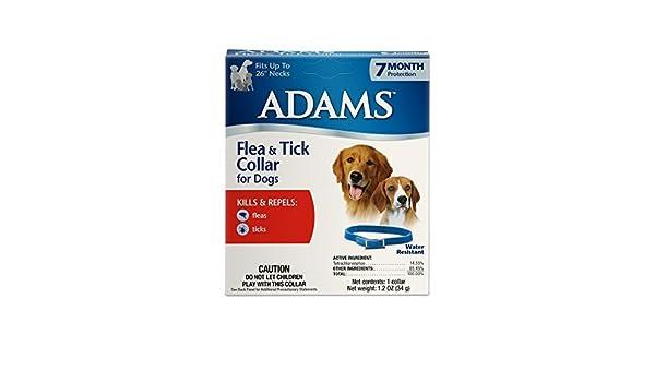 Adams - Collar de pulgas y garrapatas para perros: Amazon.es: Productos para mascotas