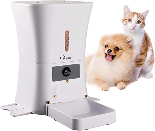MeijieM Comedero Automático para Perros y Gatos 8L - WiFi ...