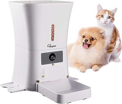 MeijieM Comedero Automático para Perros y Gatos 8L - WiFi Inteligente Alimentador para Mascotas con 1080P HD Cámara con Visión Nocturna, Audio Bidireccional, App Control Remoto con Temporizador: Amazon.es: Productos para mascotas