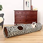 "PAWZ Road Cat Toys Collapsible Tunnel Dog Tube for Fat Cat,Rabbits,Dogs Length 51"" Diameter 12"" 14"