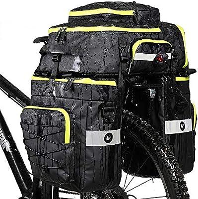 LKN 75L Bicicleta de Ciclismo Resistente al Agua 3 en 1 Bolsa de ...